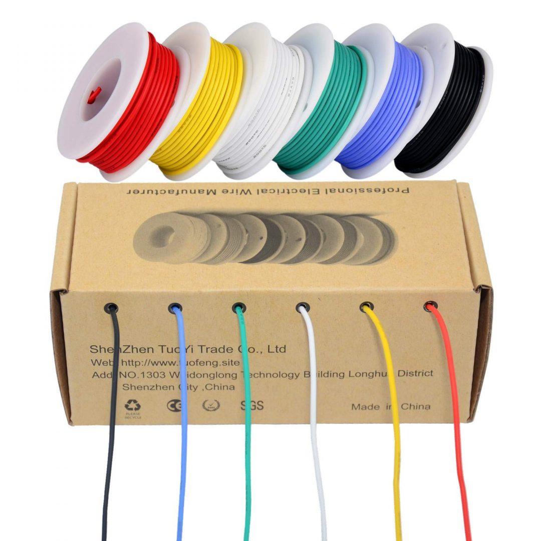 Faire le plein de câbles silicone pour vos montages.