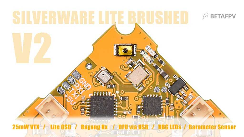 BetaFPV lite brushed FC, la première FC de whoop sous Silverware